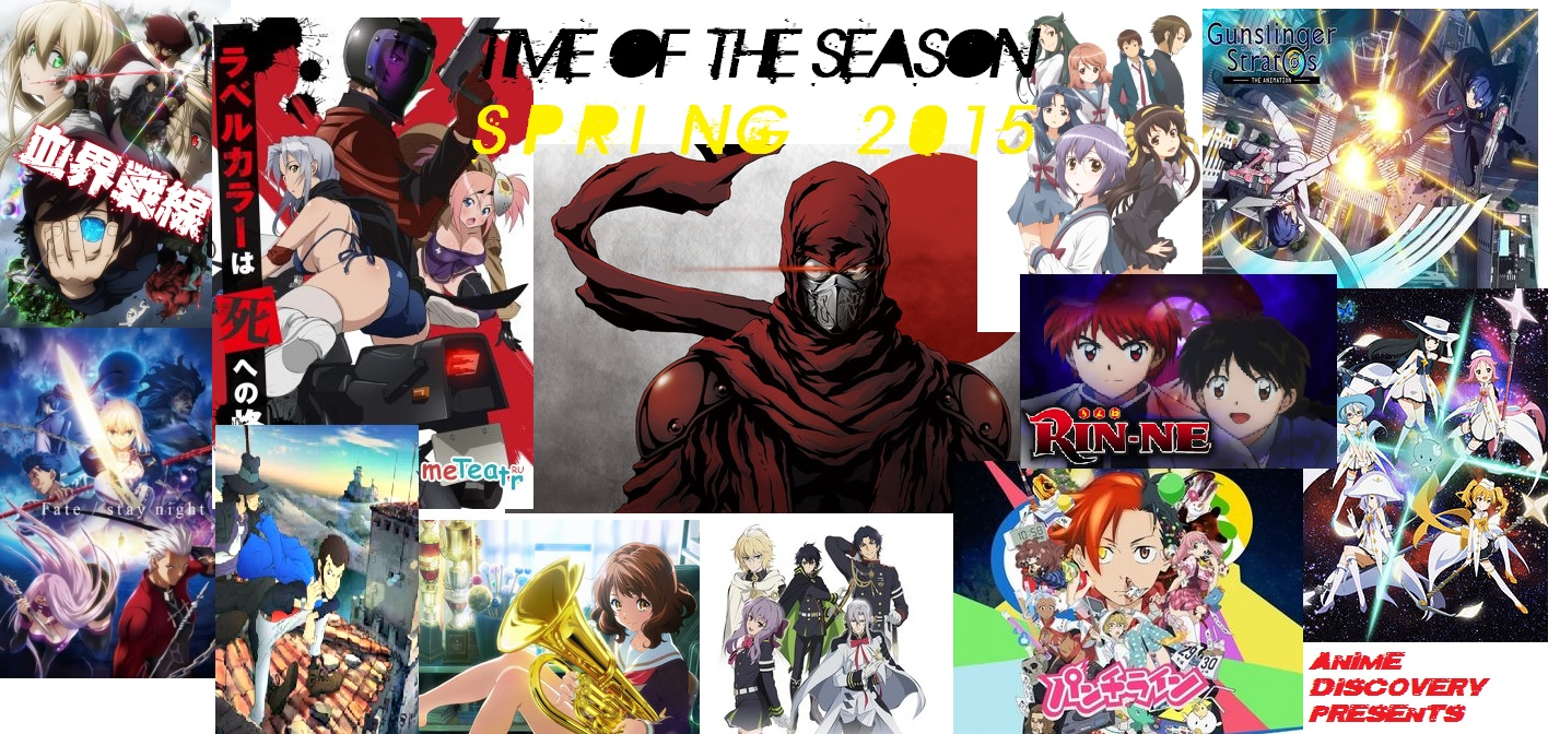 Anime Discovery – TIME OF THE SEASON Spring 2015Wrap-Up