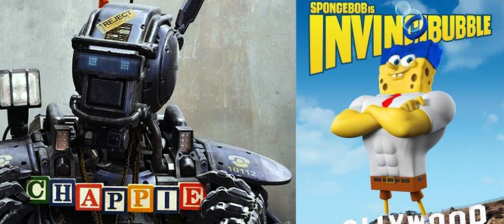 """HM Movie Reviews/ (Hy) Lights DOUBLE HEADER: """"Chappie Out of Water"""" (Chappie / Spongebob: Sponge Out ofWater)"""